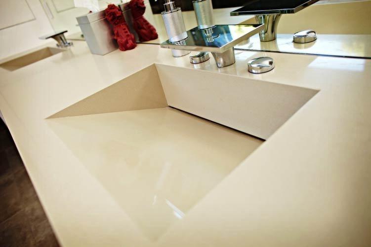 for Integrated quartz sink