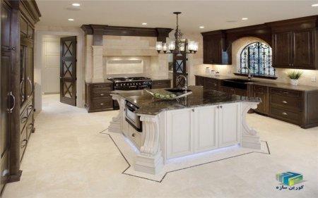 نمونه جزیره کابینت آشپزخانه مدرن و کلاسیک